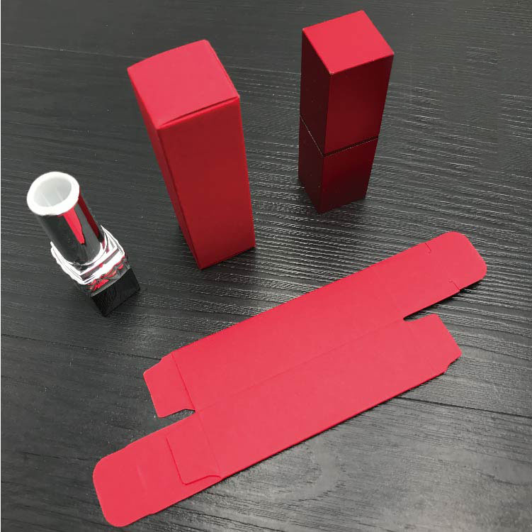Red Cardboard Lip Rouge Packing Box