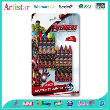 MARVEL AVENGERS 8 blister card crayons