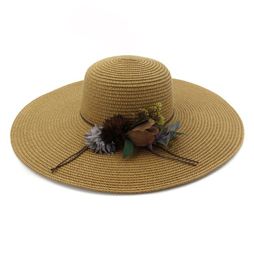 Cherry custom design fedora summer beach straw hat