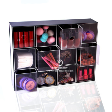Customized clear acrylic collection storage case box
