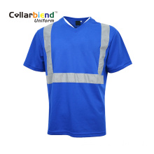 Blue Safety Hi Vis Polo Tshirt