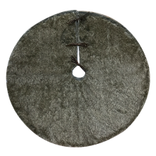 Deluxe  brown plush Christmas Tree Skirt