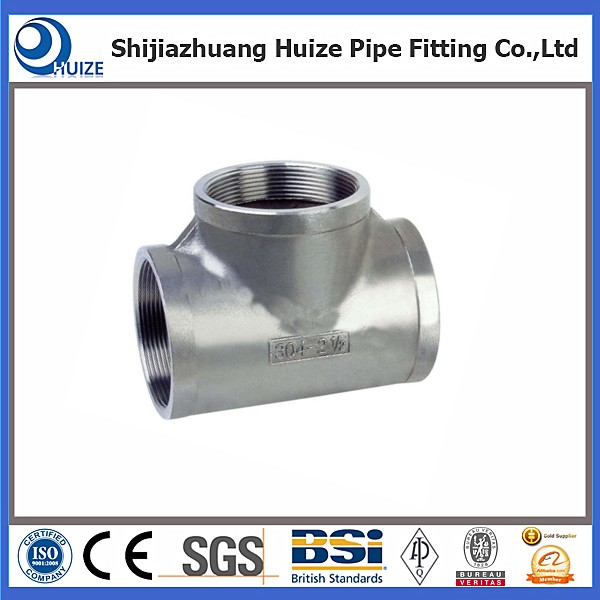 stainless steel tees butt welded fitting
