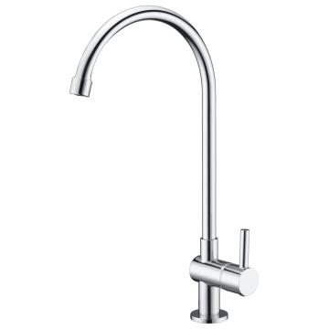 Swan neck kitchen mixer tap cold water only