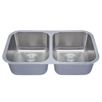 Equal Bowl Stainless Steel 16 Gauge Kitchenl Sinks