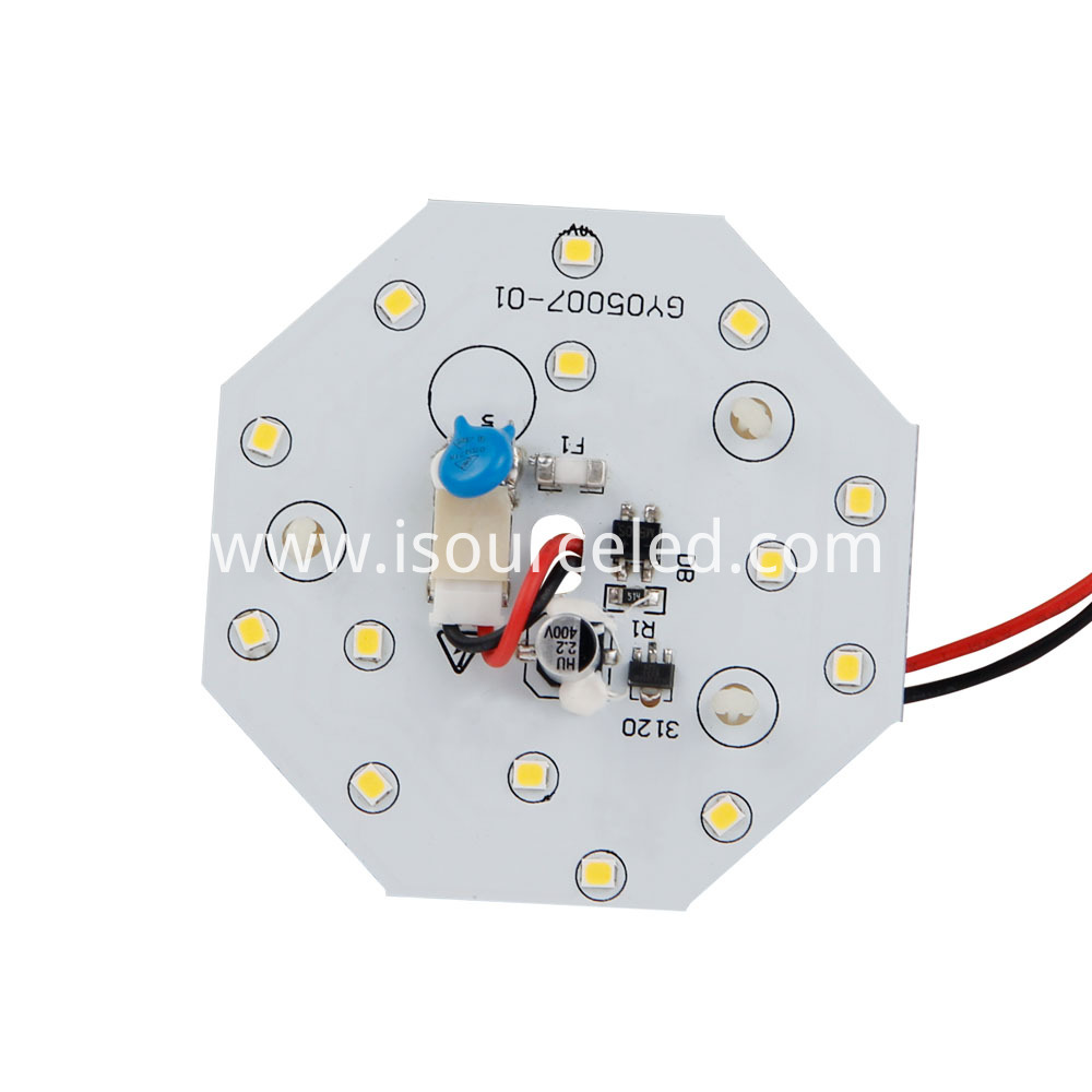 SMD 2835 Warm white 5W AC LED Module front view
