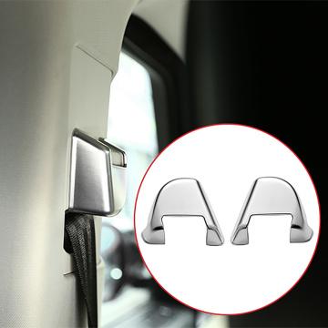 for Land Rover Range Rover Sport 2014-2017 Matte Chrome Safety Belt Cover Button Trim Sticker Accessories
