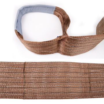6 Ton 6M Or OEM Length 180MM Width 4 Ply Soft Lifting 6T Webbing Glass Sling Belt Brown Color Safety Factor 8:1 7:1 6:1