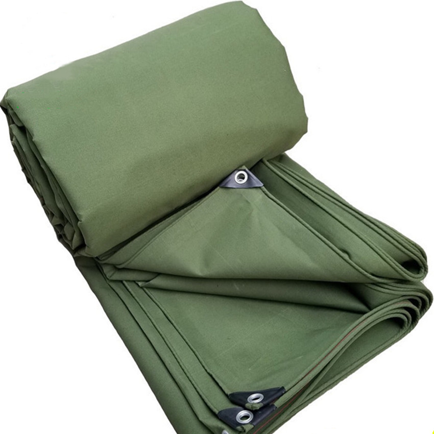 Olive polyester tarpaulins