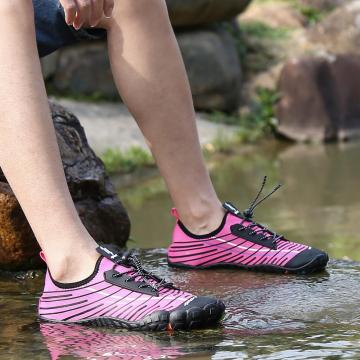 Men and women snorkeling shoes