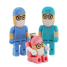 Cartoon Robot Medical USB Flash Drive Dottor Pendrive