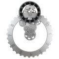 Big Gear Wall Clock White