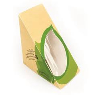 Triangle baking food sandwich cartons Hot dog packaging