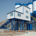 Stationary HZS90 belt conveyor concrete batching plant