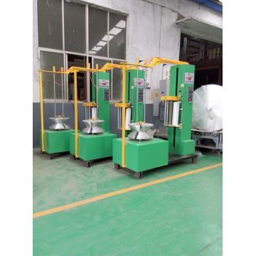 Multi tire wrapping machine