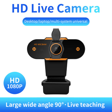 CMOS Web Camera Noise Reduction Microphone Webcam USB Online Live Video 1080P for Household Computer Safety Parts