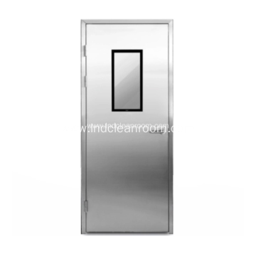 Stainless steel medical door with visible window