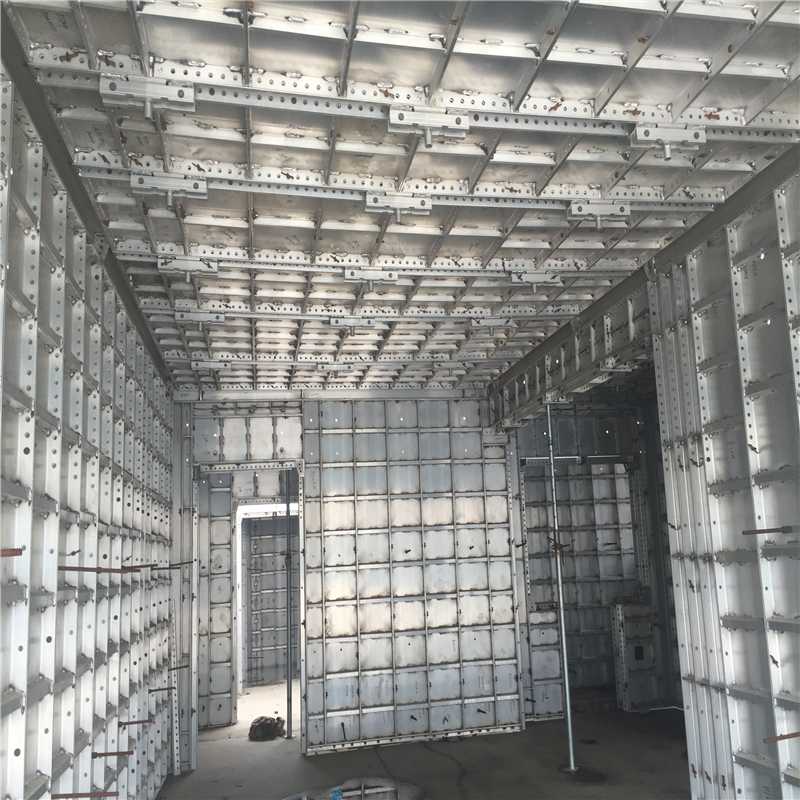 repeat use of aluminum formwork for concrete structure