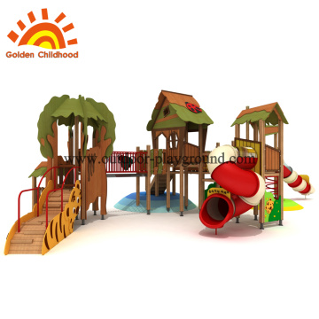 Wooden playset outdoor for toddlers