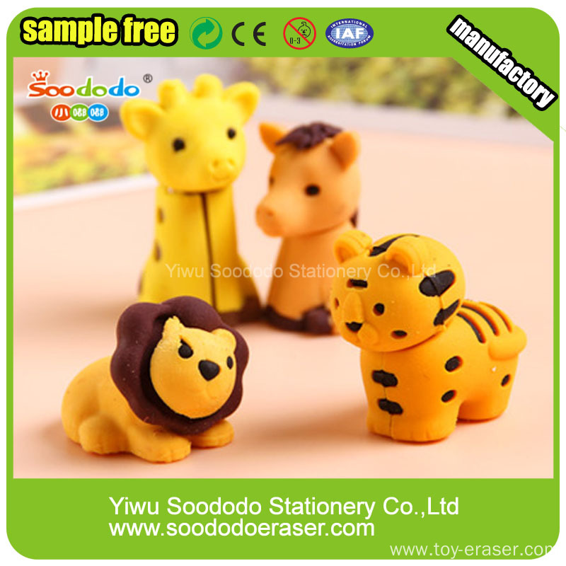 Wholesale Custom Japanese Mini Funny Cute Animal Shaped 3D Eraser