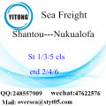 Shantou Port LCL Consolidation To Nukualofa