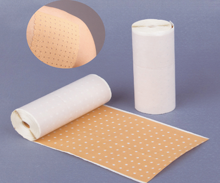 Perforated zinc oxide tape
