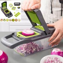 Onion Chopper Pro Vegetable Chopper Fruit Shred Slicer Cutter Vegetable Slicer Grater Household 7-in-1 Kitchen Gadgets Tool