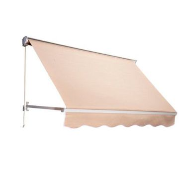 sloping window awning with gearbox