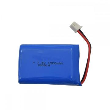 1500mah 7.4v battery lithium ion for electronic device