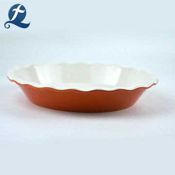 Fashion wave shape dinner cheap tableware plates restaurant ceramic