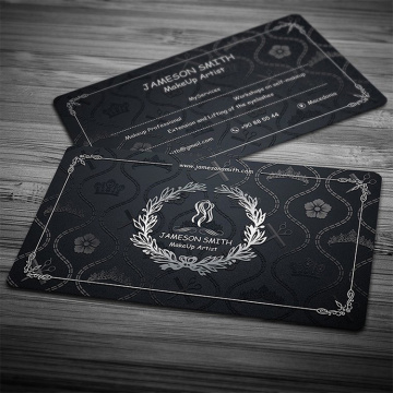 Black premium stamping logo multi-process business card