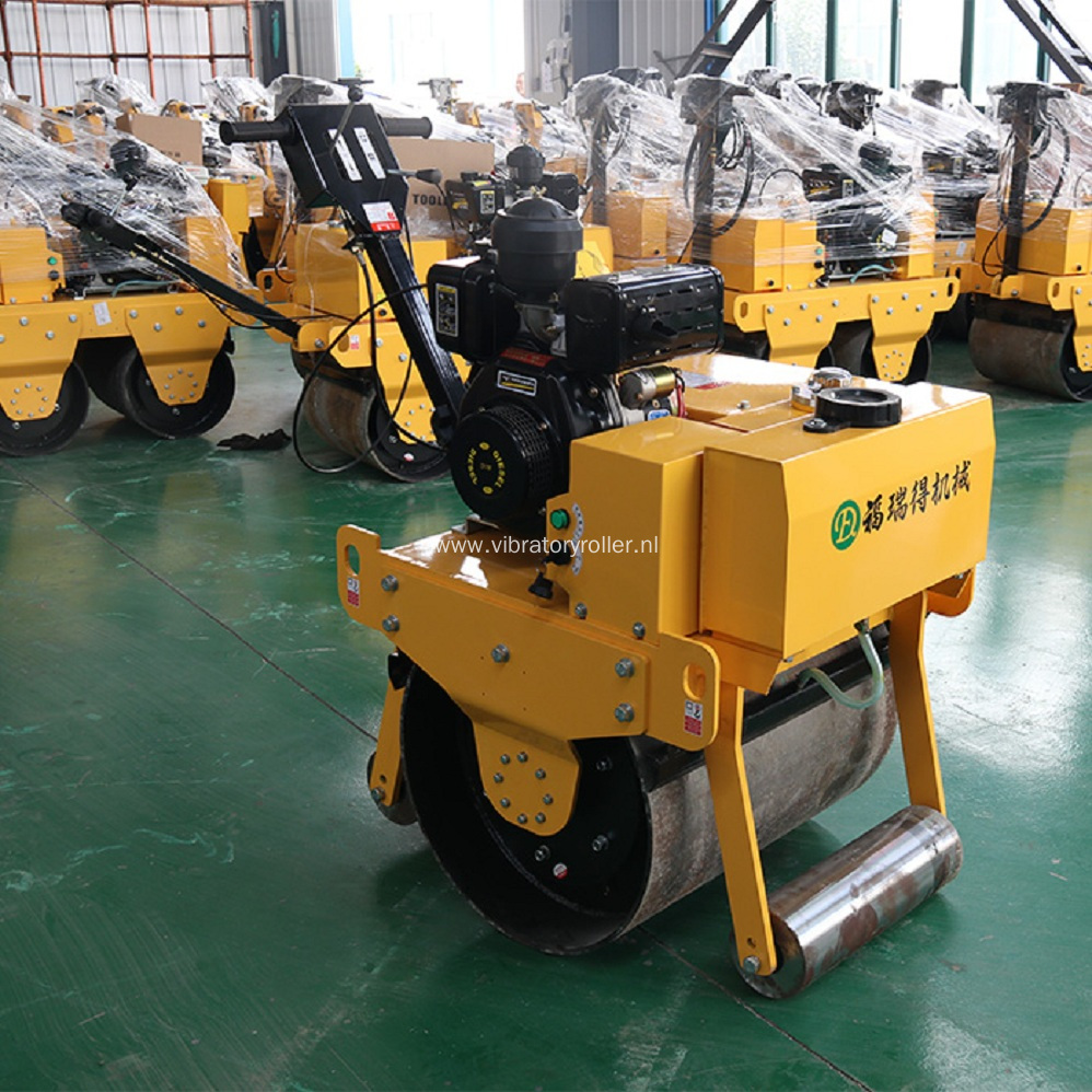 Walk Behind Roller With Vibratory Single Drum
