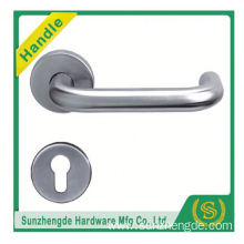 SZD STH-101 round rosette brushed door handle stainless steel