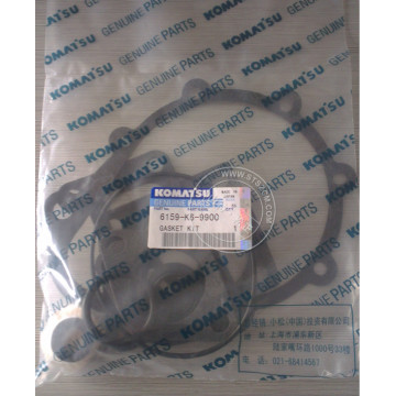 6159-K6-9900 water pump gasket kit genuine komatsu parts