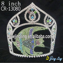 New design Custom King Crowns Fish Shape