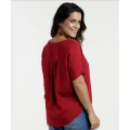 Slim Short Sleeve Blouses slimming Polyester Solid Blouse