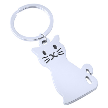Fashion New Style Metal Cat Shape Key Chain