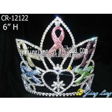 6 Inch Rainbow Pageant Crown