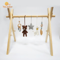 Natural Safety Educational Activity Wooden Baby Gym