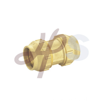 Brass PE-PPR compression straight double coupling