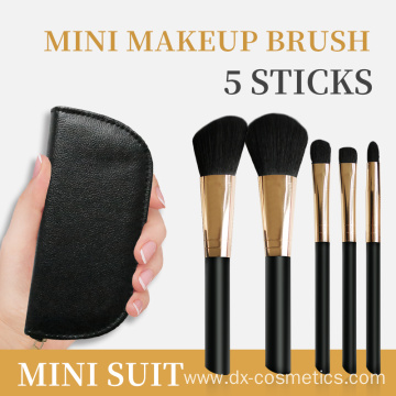 customize 5Piece Essential Travel Makeup Brush 2019 Set