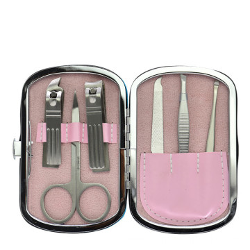 6items Manicure tools set suit Nail Care Stainless steel Nail clippers
