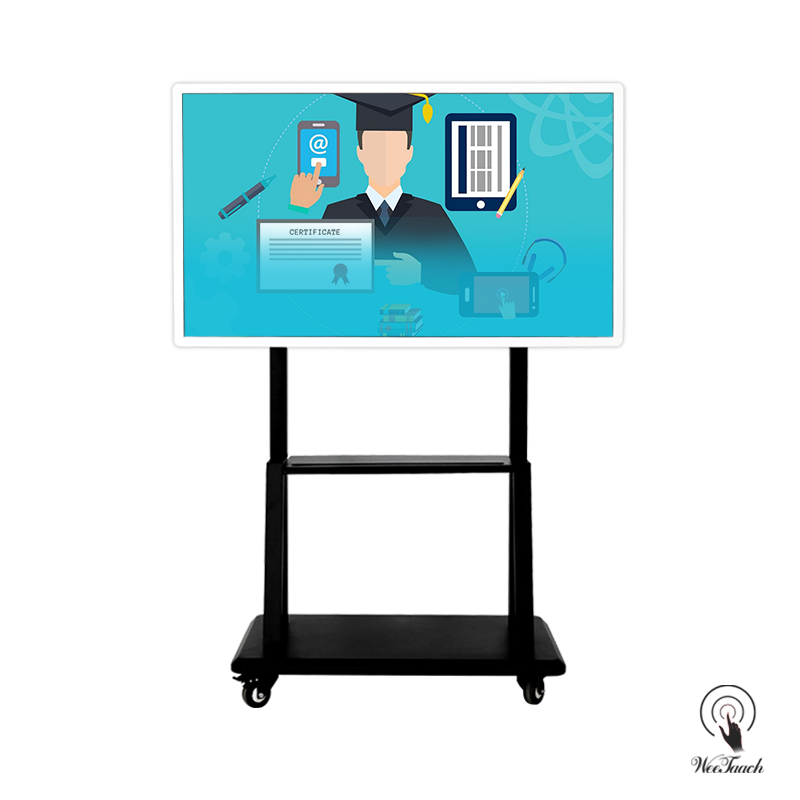 55 Inches UHD Whiteboard Display with mobile stand
