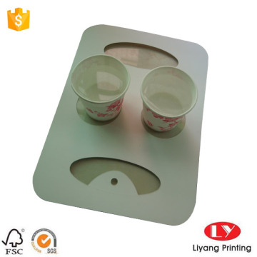 Multi paper cup holder tray with handle