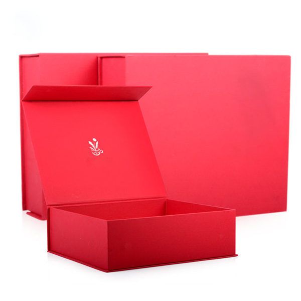 Custom Luxury Red Gift Paper Box With Insert
