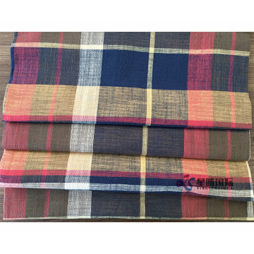 Plaid Bamboo Cotton Blend Fabric For Clothing