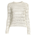 Circle Neck Hollow Out Knitted Crochet Top