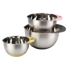 Mixing Bowl Set of 3pcs StainlessSteel for Home
