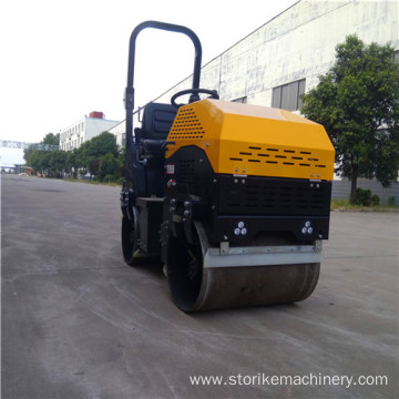 Construction using 1 tonne light roller compactor