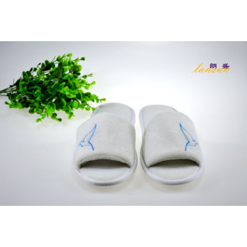 Hotel Terry Slipper Foam Anti-Slip Sole Open Toe